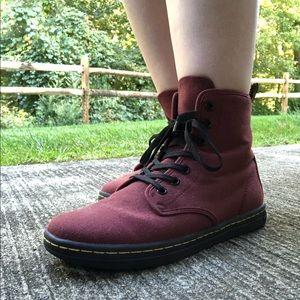 Dr Martens Shoreditch Red Canvas Shoes